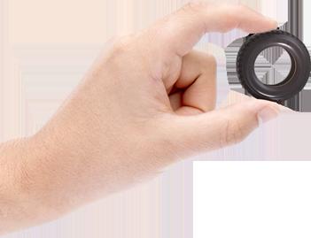 ilustrácia kolesa vyrobeného z gumy